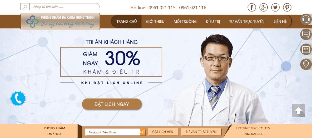 thiết kế website bệnh viện phòng khám